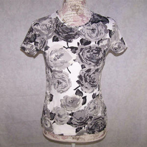 Croft & Barrow Tee Shirt Short Sleeves Floral